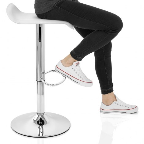 Zars Bar Stool White Seat Image