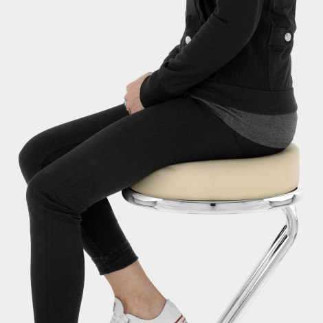 Zizi Kitchen Stool Cream Seat Image