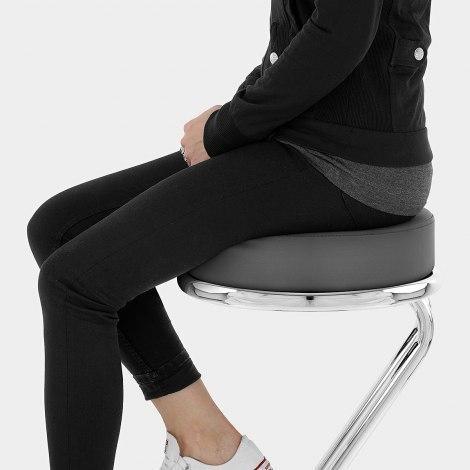 Zizi Kitchen Stool Grey Seat Image