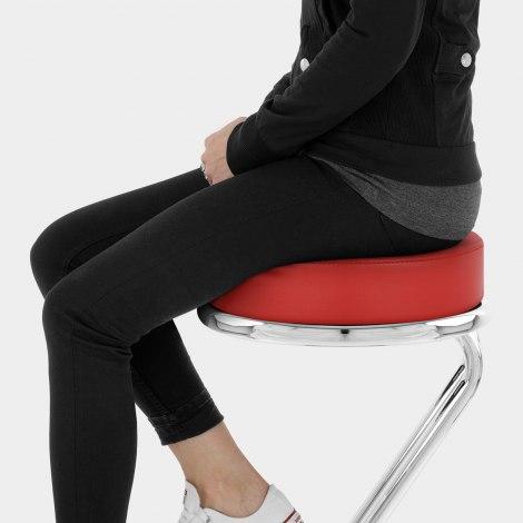 Zizi Kitchen Stool Red Seat Image