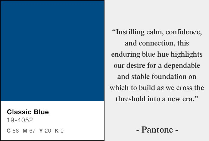 Classic Blue - 2020 Pantone Colour Of The Year