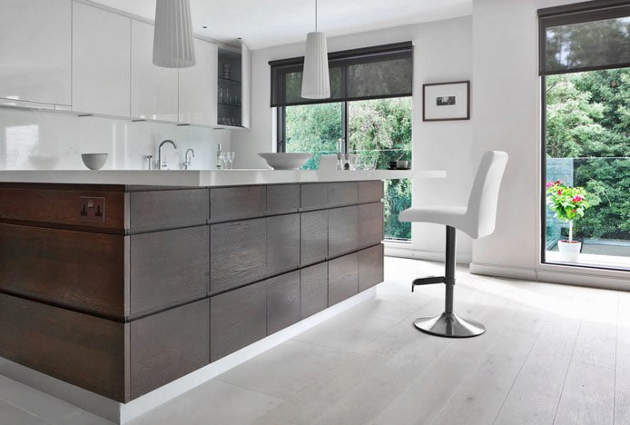 Deluxe Brushed Stool at Kitchen Counter