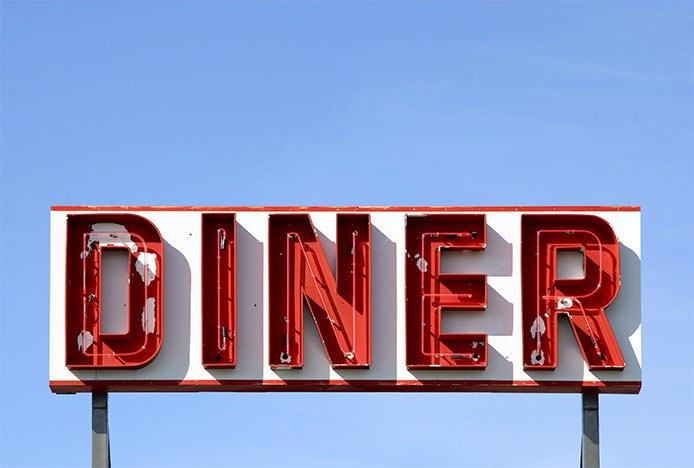 Retro American Diner Sign