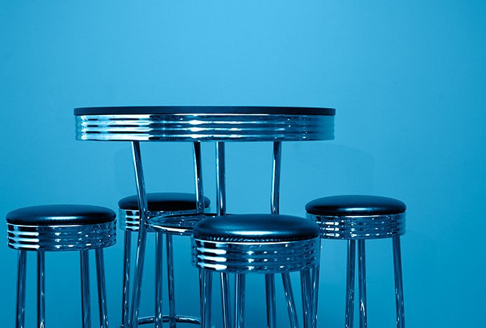 American Diner Stools and Table