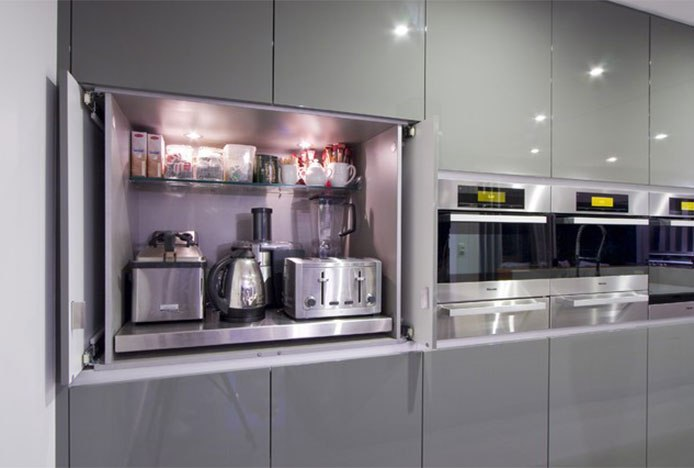 Appliance Garage In Modern Kitchen