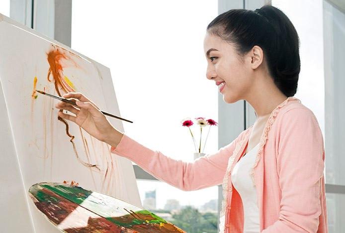 Artist on Stool
