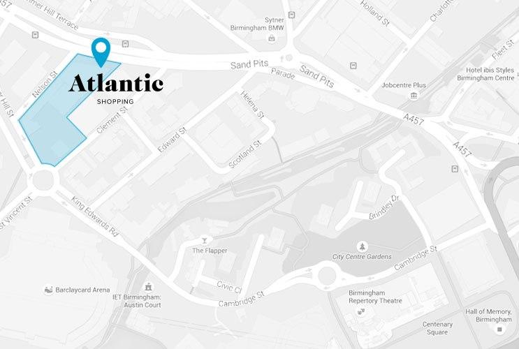 Atlantic Shopping location Map