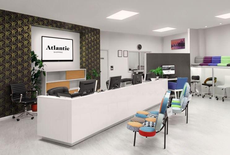 Reception at Atlantic Shopping's Bar Stool Shoowroom in Birmingham UK