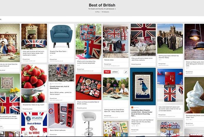 Best Of British Pinterest Board
