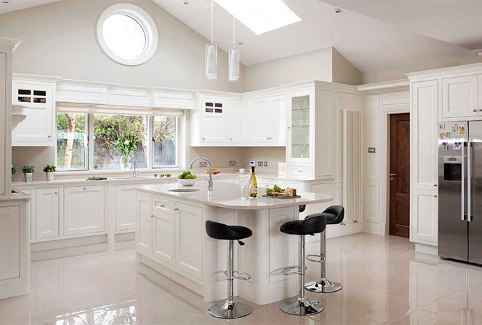 Black Lulu Stools in All Cream Kitchen