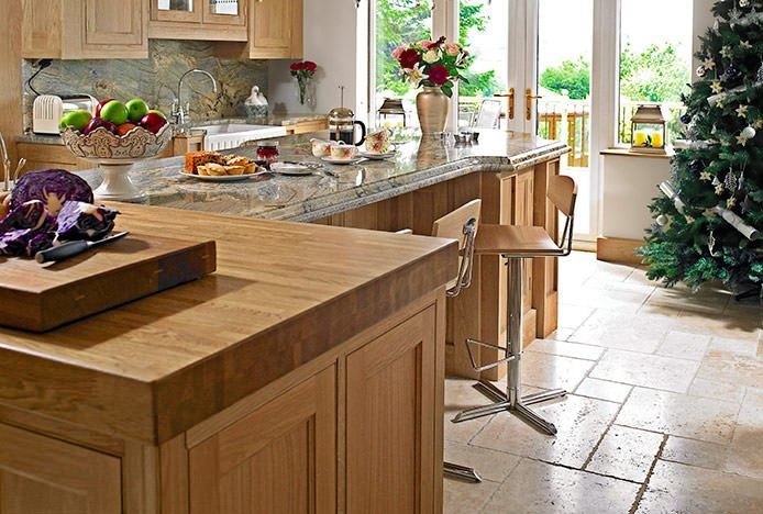 Blade Oak Stools in Country Kitchen