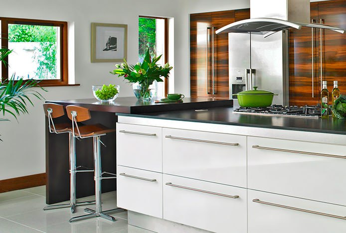 Blade Stools in Domestic Kitchen