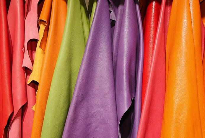 Bright Coloured Leather Swatches