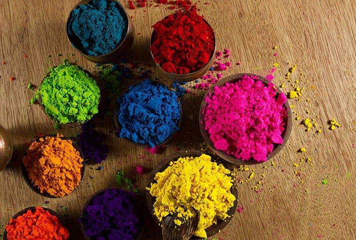 Bright Paint Powder in Pots
