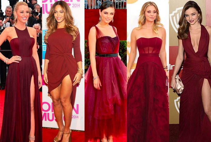 Celebrities Dressed In Marsala