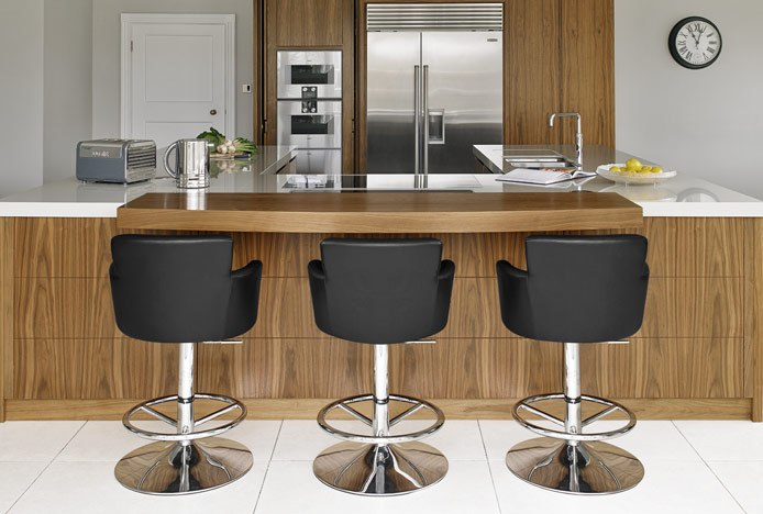 Chateau Bar Stools with Armrests in Kitchen