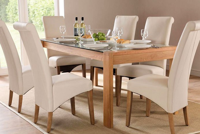 Classic Leather and Oak Carlo Dining Chairs