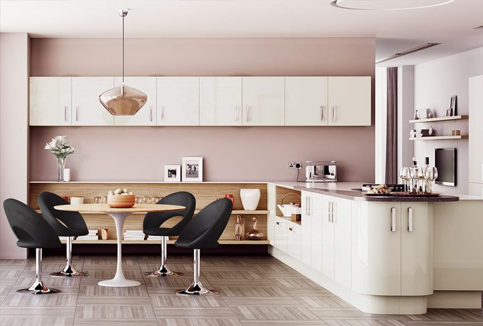 Clementine Chair Black In Modern Kitchen