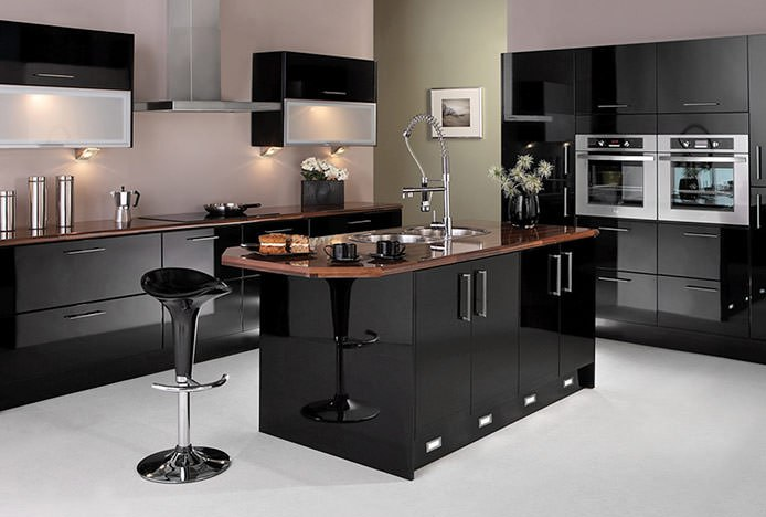 Coco Bar Stool in Black Kitchen