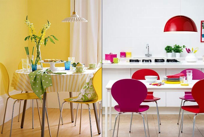Colourful Candy Chairs In The Kitchen
