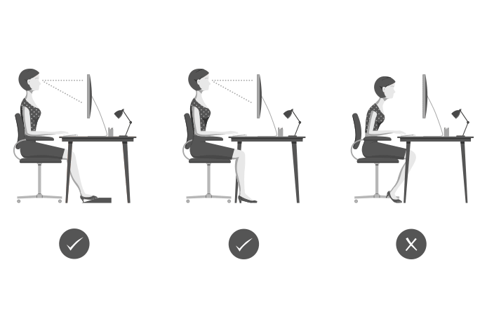 Correct Sitting Posture Office Chair