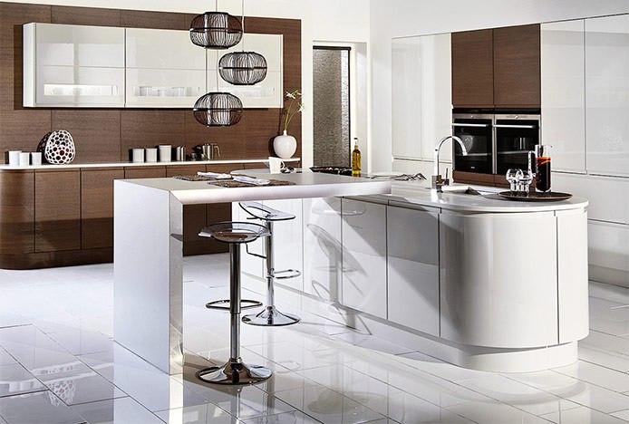 Minimalist Clean Lined Kitchen