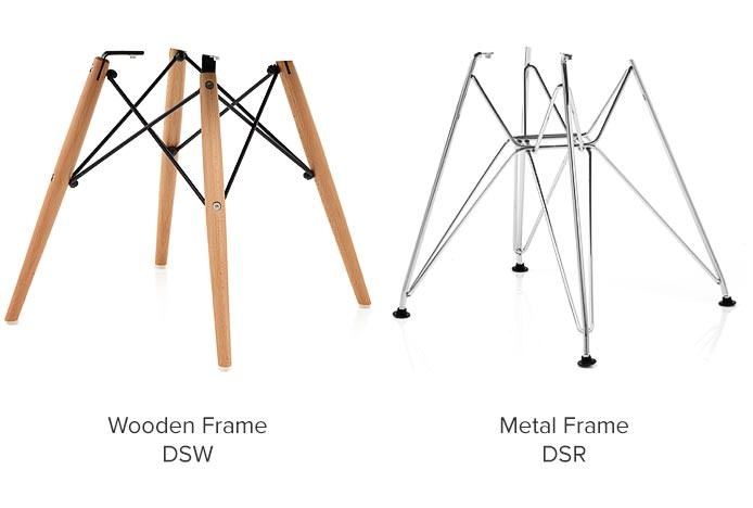 Eames Chair Frames DSW vs DSR