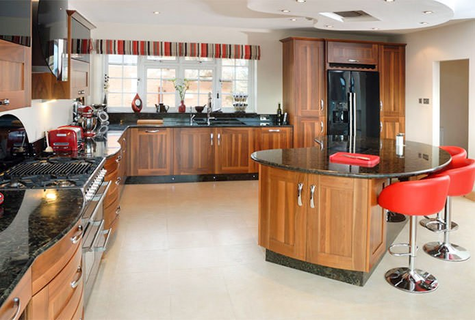 Eclipse Bar Stool Red in Kitchen