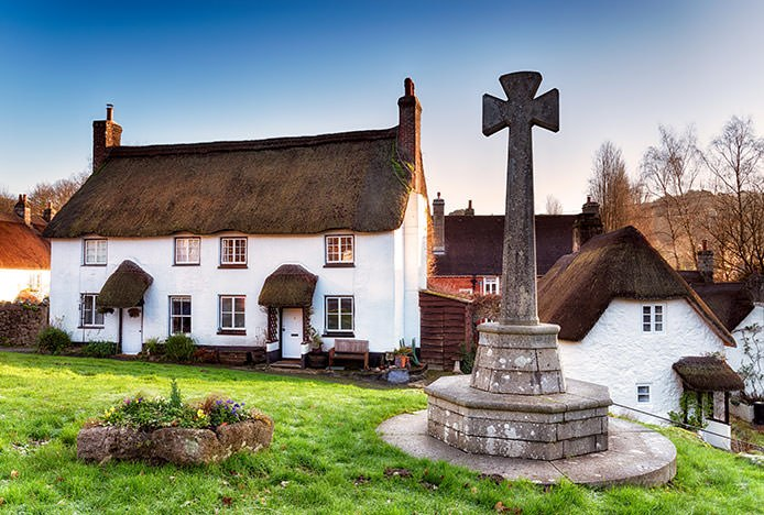 English Country Thatched Cottage