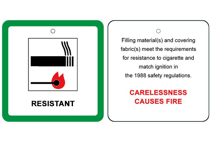 Fire Retardant Label