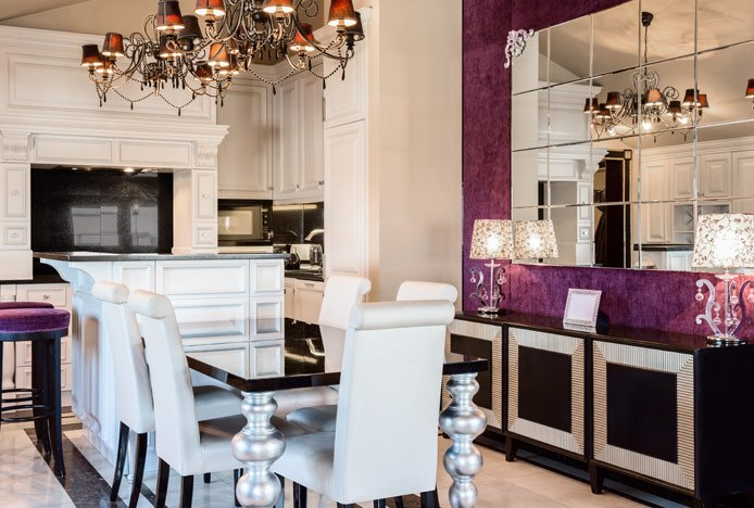 Glamorous Kitchen With Dining Table