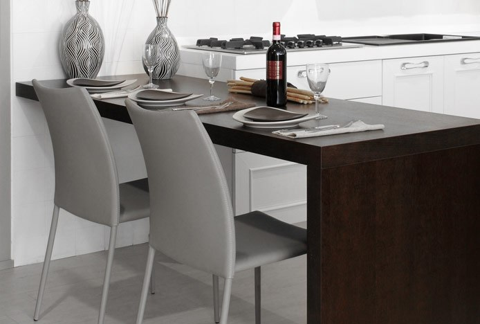 Grey Joshua Dining Chairs in Modern Kitchen