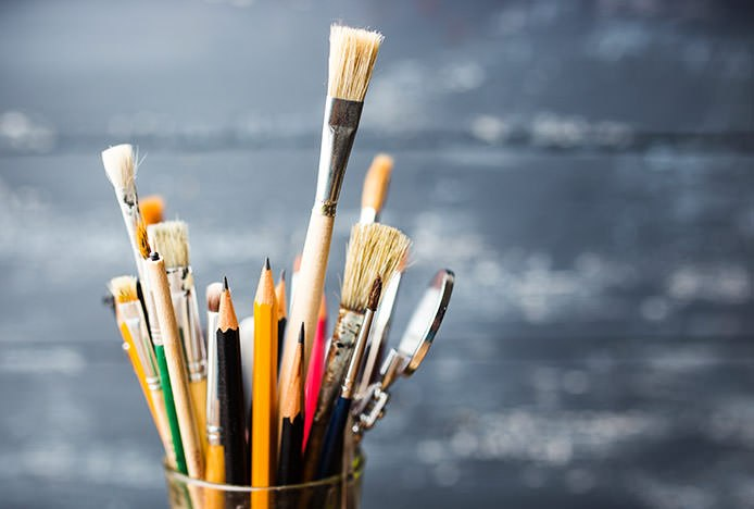 Hobby Craft Pencils and Paintbrushes