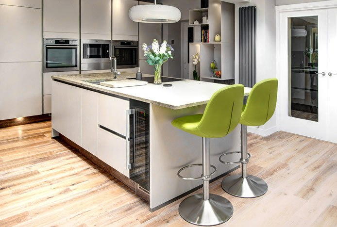 Ferrero Bar Stool At Kitchen Island Overhang