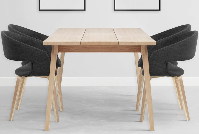 Marcus Dining Chair In Japandi Style Interior