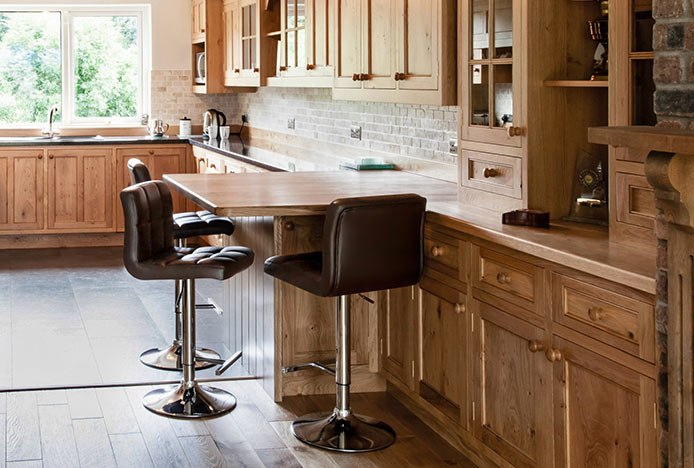 Kitchen With Wood Element