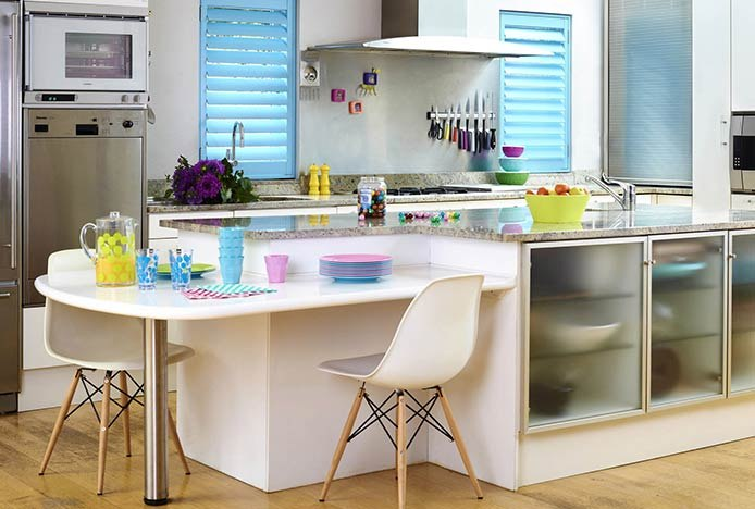 Magnetic Knife Rack In Bright Kitchen
