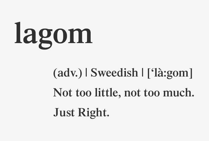 Lagom Definition