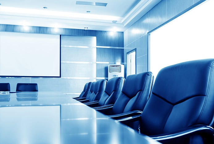 Leather Office Chairs at Boardroom Table