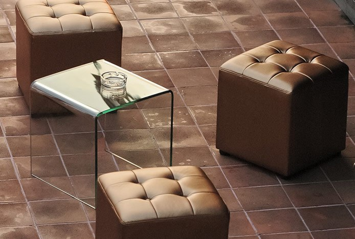 Low Stools in Lobby Area