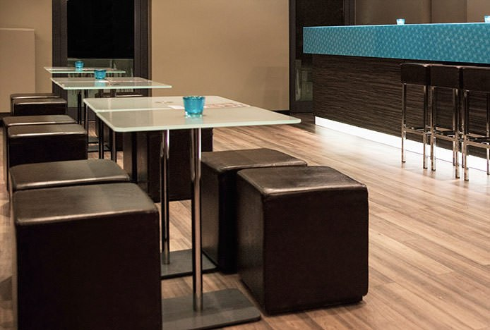 Low Stools in Restaurant Bar