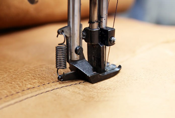 Machine Stitching Faux Leather