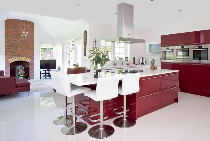 Marsala Coloured Kitchen