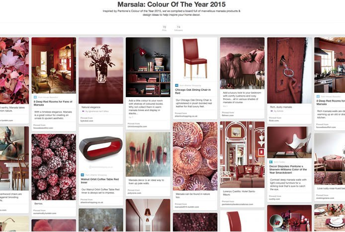Marsala Colour Of The Year Pinterest Board