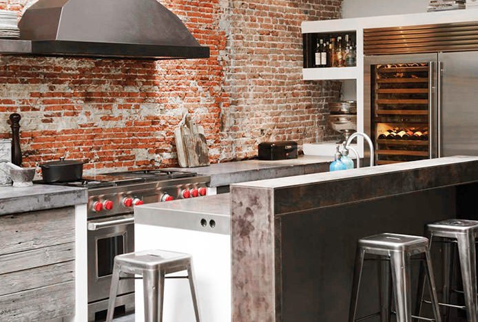 Textured Industrial Style Kitchen