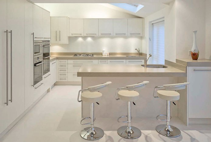 Minimalist Cream Kitchen