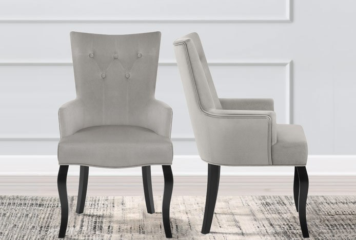 Fleur Chair With Modern Cabriole Legs