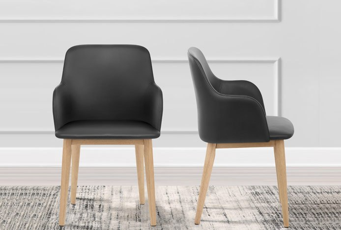 Albany Chair With Modern Round Tapered Legs