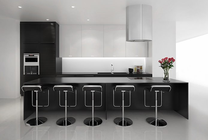 Niagara Bar Stools in Black Kitchen