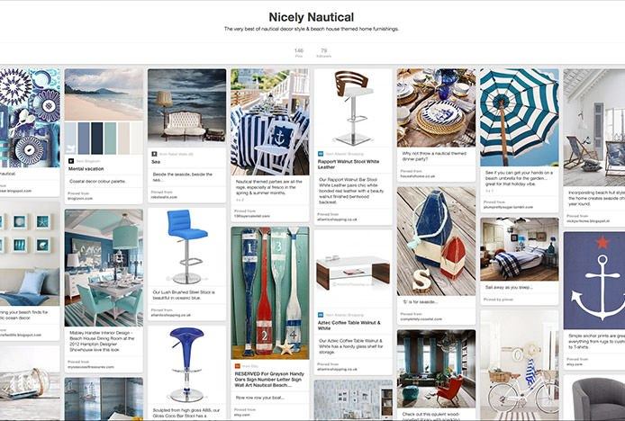 Nicely Nautical Pinterest Board